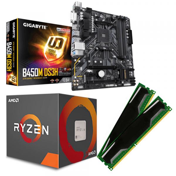 GIGABYTE GA-B450M-DS3H / RYZEN 3 Prozessoren / DDR4-RAM PC2666 |