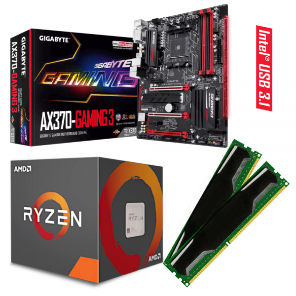 GIGABYTE GA-AX370 Gaming 3 / RYZEN 5 Prozessoren / DDR4-RAM PC2666 |