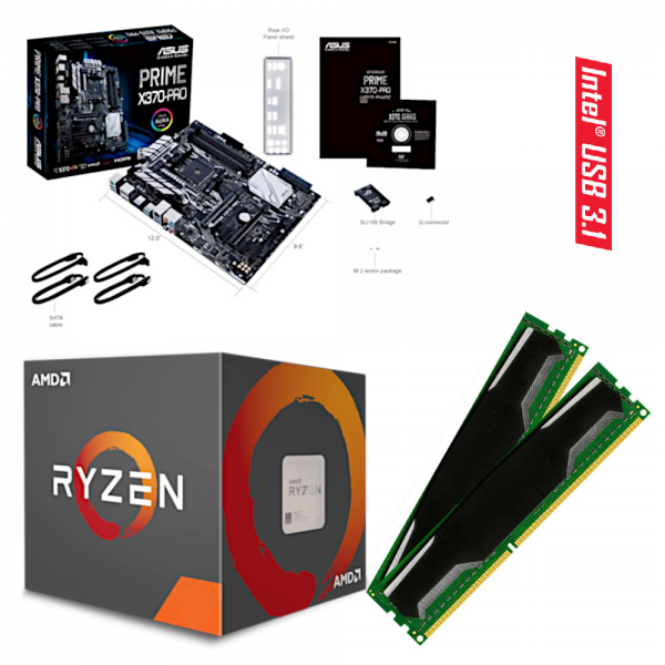 ASUS PRIME X370-PRO / RYZEN 5 Prozessoren / DDR4-RAM PC2666 |
